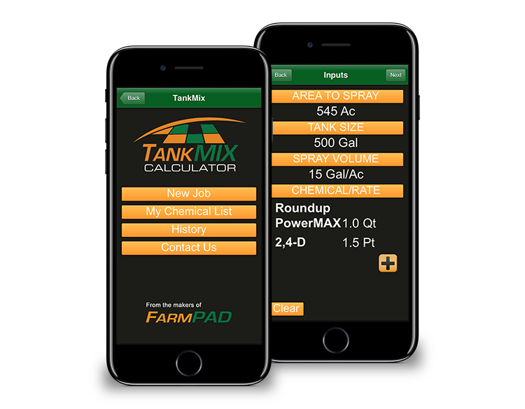 Tank Mix Calculator - Mobile App Farming Tool